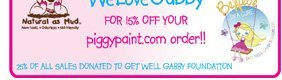 15% off Piggy Paint products with code: WeLoveGabby