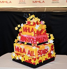 Surprise 30th Anniversary Stars Event cake presented by Live! Casino & Hotel