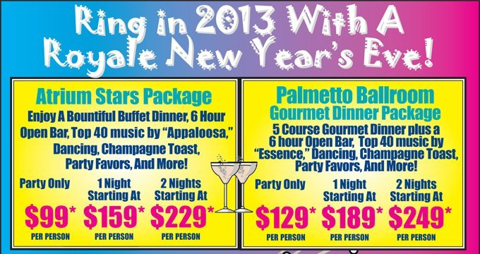 Ring in 2013 with a Royale New Year's Eve!